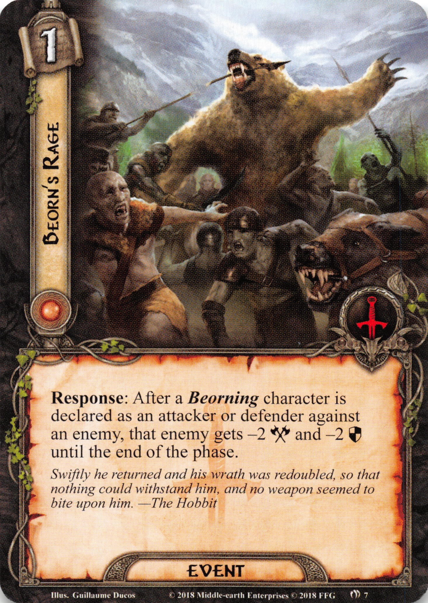 Lord of the Rings LCG The Withered Heath 1x #008 Long Lake Fisherman